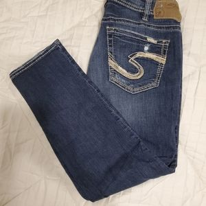 Silver distressed jeans size 31